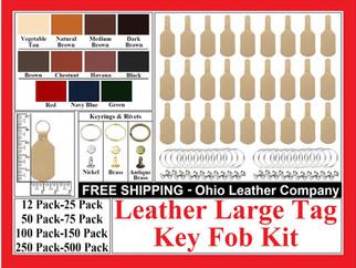Leather Large Tag Key Fob Kit - Ohio Leather Company.com