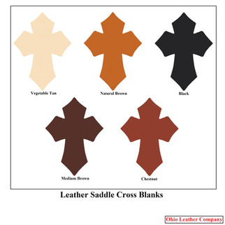 Leather Saddle Cross Blanks - Assorted Colors - OhioLeatherCompany.com