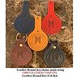Leather Round Keychain -  Ohio Leather Company