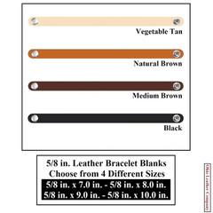 5/8 in. Leather Bracelet Blanks - OhioLeatherCompany.com -1