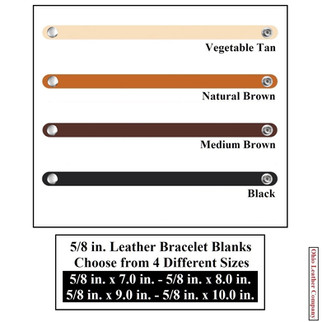 5/8 in. Leather Bracelet Blanks - 4 Color MultiPack - OhioLeatherCompany.com