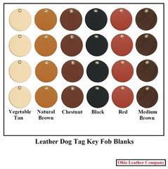 Leather Dog Tag Key Fob Blanks - OhioLeatherCompany.com