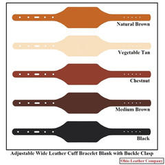 Adjustable Leather Cuff Bracelets with Buckle - OhioLeatherCompany.com -2