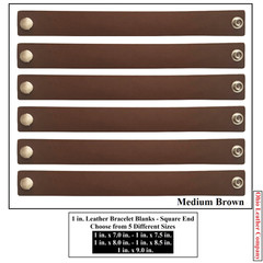 1 in. Leather Bracelet Blanks - Square End - OhioLeatherCompany.com -4