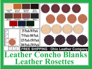 Leather Concho Blanks , Leather Rosette
