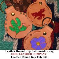 Leather Round Keychain - OhioLeatherCompany.com -07