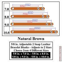 5/8 in. Adjustable 2 Snap Leather Bracelet Blank - Adjusts to 2 Sizes - Ohio Leather Company