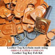 Leather Tag Keychain - OhioLeatherCompany.com -01