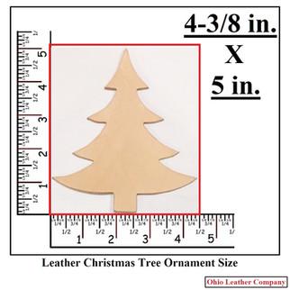 Leather Christmas Tree Ornament Blank Size - OhioLeatherCompany.com