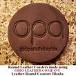 Leather Round Coaster Blank - 3 Sizes to choose from - Ohio Leather Company