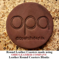Leather Round Coaster Blanks - 3 Sizes to choose from 3-1/4 in. - 3-5/8 in. - 4-1/8 in. - OhioLeatherCompany.com -04