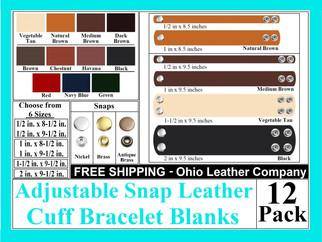 Bracelet Blanks - Adjustable 2 Snap & 4