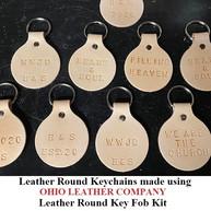 Leather Round Keychain - OhioLeatherCompany.com -04