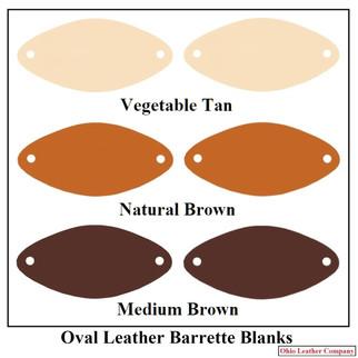 Oval Leather Barrette Blanks - Ohio Leat