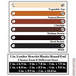 1 in. Leather Bracelet Blanks 6 Color MultiPack - Ohio Leather Company