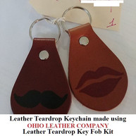 Leather Teardrop Keychain - OhioLeatherCompany.com -04
