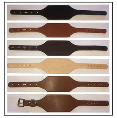 Adjustable Leather Cuff Bracelets with Buckle - OhioLeatherCompany.com -3