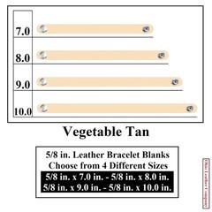 5/8 in. Leather Bracelet Blanks - Vegetable Tan - OhioLeatherCompany.com