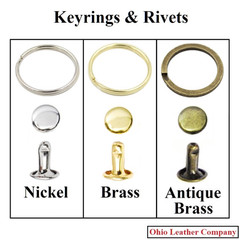 Accessory Selection - Keyrings & Rivets - OhioLeatherCompany.com