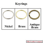 Accessory Selection - Keyrings - 3 Finishes Available - Nickel - Brass - Antique Brass - Ohio Leather Company