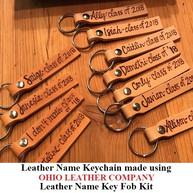 Leather Name Keychain - OhioLeatherCompany.com -01