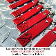 Leather Name Keychain - OhioLeatherCompany.com -02