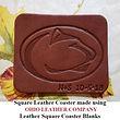 Leather Square Coaster Blank - Ohio Leather Company