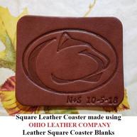 Leather Square Coaster Blank - OhioLeatherCompany.com -1