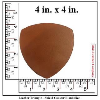 Leather Triangle Coaster Blank Size - OhioLeatherCompany.com