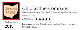 Etsy Seller since 2015 - Etsy Reviews for Ohio Leather Company