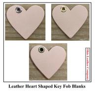 Leather Heart Key Fob Blanks - Heart Shaped KeychainOhioLeatherCompany.com