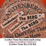Leather Name Keychain - OhioLeatherCompany.com -06