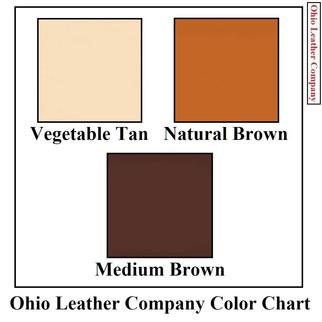 Leather Barrette Blanks - 3 Color MultiPack - OhioLeatherCompany.com