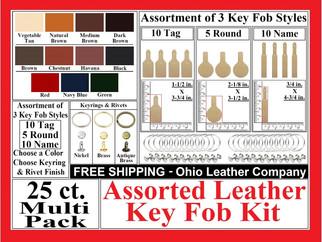 Key Fob Kits -3 Assored  Key Fob Styles