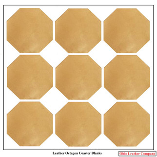Leather Octagon Coaster Blanks - OhioLeatherCompany.com -2