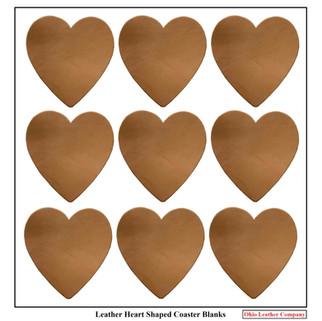 Leather Heart Coaster Blanks - OhioLeatherCompany.com -2