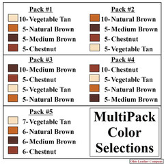 4 Color MultiPack Selection for Ohio Leather Company