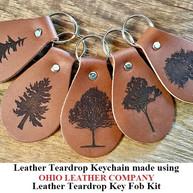 Leather Teardrop Keychain - OhioLeatherCompany.com -03