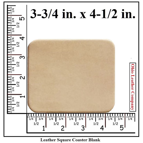 Square Leather Coaster Blank