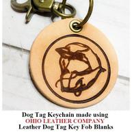 Leather Dog Tag Keychain Key Fob Blank - OhioLeatherCompany.com -02