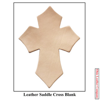 Leather Saddle Cross Blank - OhioLeatherCompany.com