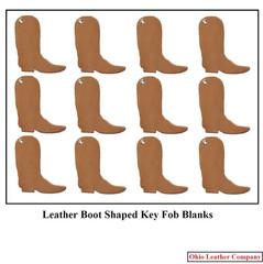 Leather Boot Key Fob Blanks - OhioLeatherCompany.com