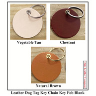 Leather Dog Tag Keychain Key Fob Blank - OhioLeatherCompany.com -01