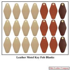 Leather Motel Key Fob Blanks Assorted Colors - OhioLeatherCompany.com