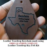 Leather Teardrop Keychain - OhioLeatherCompany.com -11