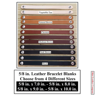 5/8 in. Leather Bracelet Blanks - 6 Color MultiPack - OhioLeatherCompany.com