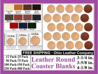 Leather Coaster - Leather Round Coaster