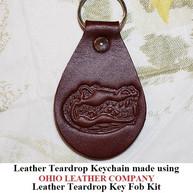 Leather Teardrop Keychain - OhioLeatherCompany.com -07