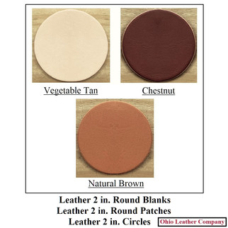 Leather 2 in. Round Blanks - Leather 2 in. Circle Blanks - OhioLeatherCompany.com