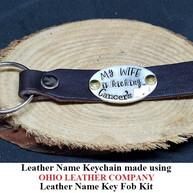 Leather Name Keychain - OhioLeatherCompany.com -11